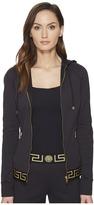 Versace Tute Intimo Giubbino Intimo Zip-Up Hoodie Women's Sweatshirt