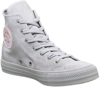 Converse All Star Hi Trainers Wolf Grey Iridescent Exclusive