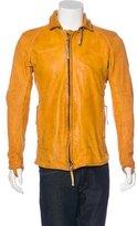 Boris Bidjan Saberi 2017 J2S Distressed Leather Jacket w/ Tags
