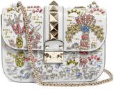 Valentino Lock medium embellished leather shoulder bag
