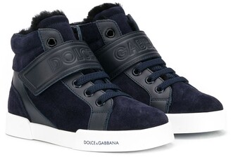 Dolce & Gabbana High-Top Logo Sneakers