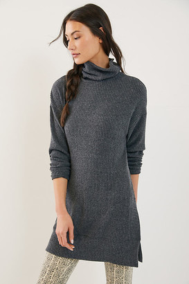 Eri + Ali Yvette Cowl Neck Tunic By in Grey Size XS