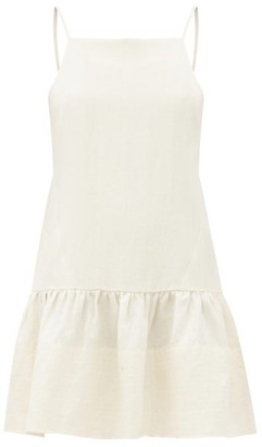 Three Graces London Skye Square-neck Linen Mini Dress - Ivory