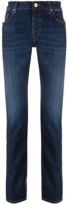 Hand Picked High Rise Straight-Leg Jeans