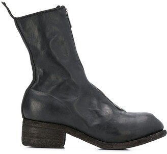 Guidi Mid-Calf Zip-Up Boots
