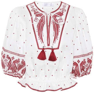 Zimmermann Exclusive to mytheresa.com embroidered linen top