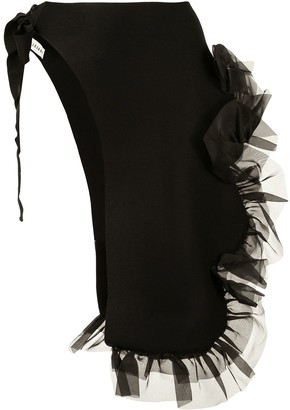 Roberts Wood Ruffle Wrap-Skirt
