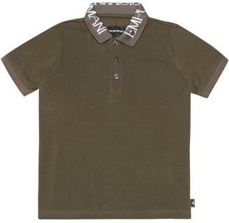 Emporio Armani Kids Cotton polo shirt