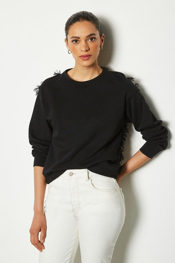 Karen Millen Feather Back Sweater