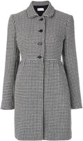 RED Valentino dogtooth buttoned coat - women - Polyamide/Polyester/Acetate/other fibers - 38