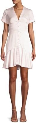 Alexis Alza Polka Dot Button Front Mini Dress