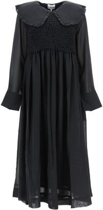 Ganni Long Chiffon Dress