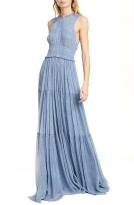 Ulla Johnson Freesia Pleated Silk Gown