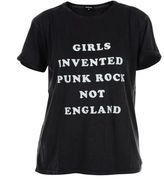 "R 13 Black ""girls Invented Punkrock"" T-shirt"