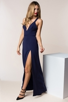 NBD Night Fever Maxi Dress in Navy