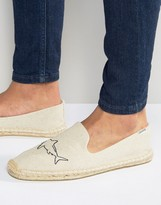 Soludos Embroidery Sharks Sand Espadrilles