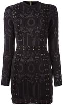 Balmain lace-up detailing fitted dress