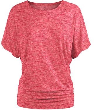 Udear UDEAR Women's Tee Shirts Heather - Heather Pink Knit Dolman Top - Women & Plus