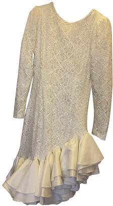 retrofete White Cotton Dress for Women