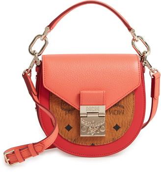 MCM Patricia Visetos Block Coated Canvas & Leather Crossbody Bag