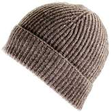 Black Brown Cashmere Beanie Hat