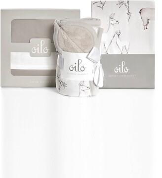 Oilo Llama Cuddle Blanket, Crib Skirt & Crib Sheet Set