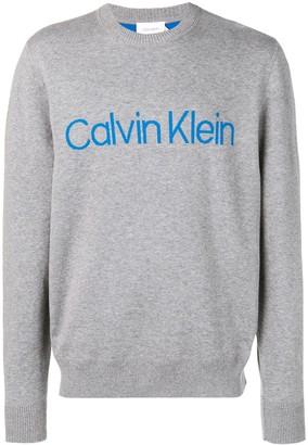 Calvin Klein Logo Intarsia Jumper