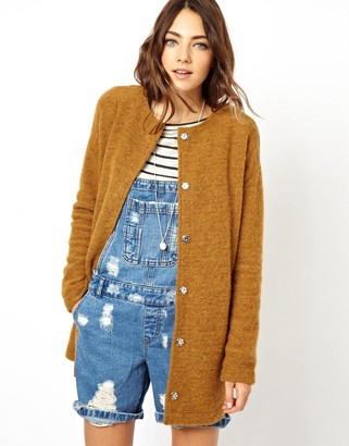Asos Design ASOS Jacket In Longline And Texture