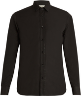 Saint Laurent Crystal-embellished single-cuff cotton shirt