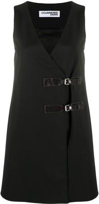 Courreges Buckle-Detail Dress