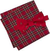 Tommy Hilfiger Men's Tree Print Bow Tie & Royal Stewart Tartan Pocket Square Set