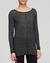 Hard Tail Split Back Long Sleeve Sweater