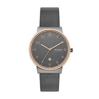 Skagen Men's Ancher Three-Hand Date Stainless Steel Watch