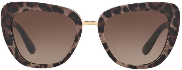 Dolce & Gabbana Butterfly Animal Print Sunglasses