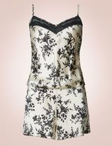 Marks and Spencer Silk & Lace Print Teddy