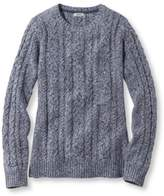 L.L. Bean Double L Mixed-Cable Sweater, Crewneck Pullover Marled