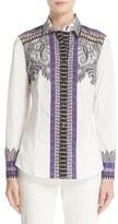 Etro Women's Vine Paisley Stretch Cotton Shirt