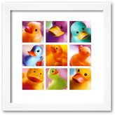 "Art.com Duck Family Portraits"" Framed Art Print"