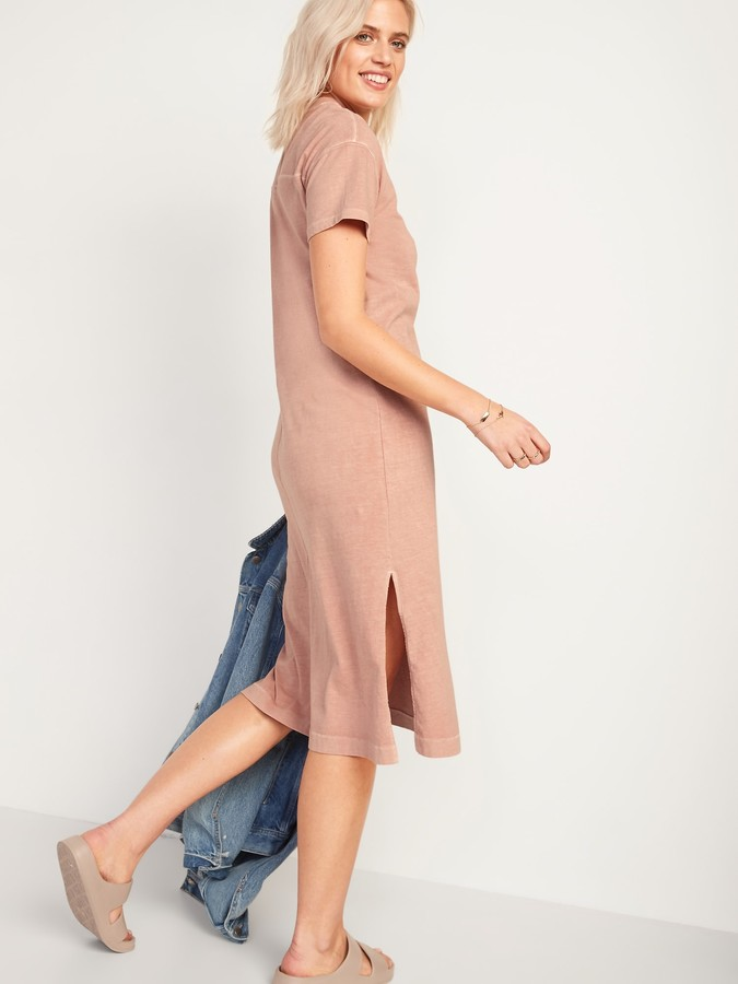 Thumbnail for your product : Old Navy Loose Vintage Garment-Dyed Midi T-Shirt Dress for Women