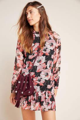 MISA Susan Mock Neck Floral Tunic
