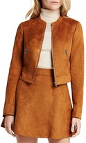 BCBGeneration Faux Suede Cropped Jacket