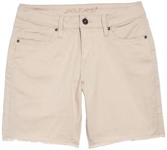 Jag Jeans Drew Boyfriend Fit Raw Hem Denim Shorts