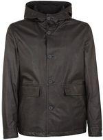 Bottega Veneta Button Up Hooded Jacket