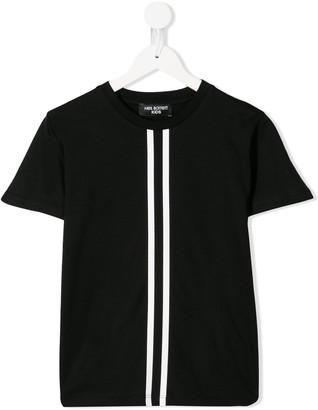 stripe panel T-shirt