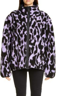 JuJu Ashley Williams Animal Print Fleece Jacket