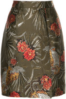 P.A.R.O.S.H. jacquard floral skirt
