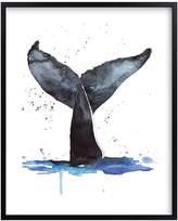 Pottery Barn Kids Whale Tale Wall Art by Minted®, Black, 8x10