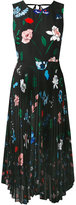 Markus Lupfer floral pleated dress - women - Cotton/Polyester - XS