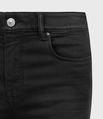 AllSaints Miller Ankle Mid-Rise Superstretch Skinny Jeans, Black