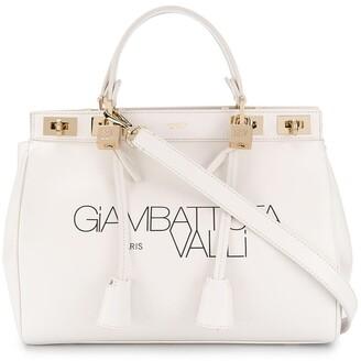 Giambattista Valli Logo-Print Leather Tote Bag